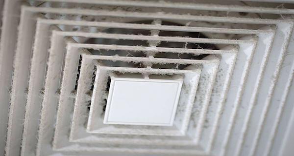 Bocchetta dell'aria prima della sanificazione