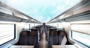 Fotomontaggio cabina treno senza soffitto