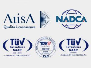 Loghi certificazioni e associazioni