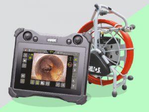 Macchina per videoispezioni con sfondo verde